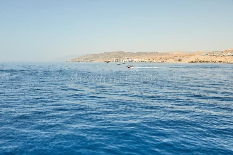 Vista do iate luxuoso ao Mar Vermelho aberto 2019 foto de stock