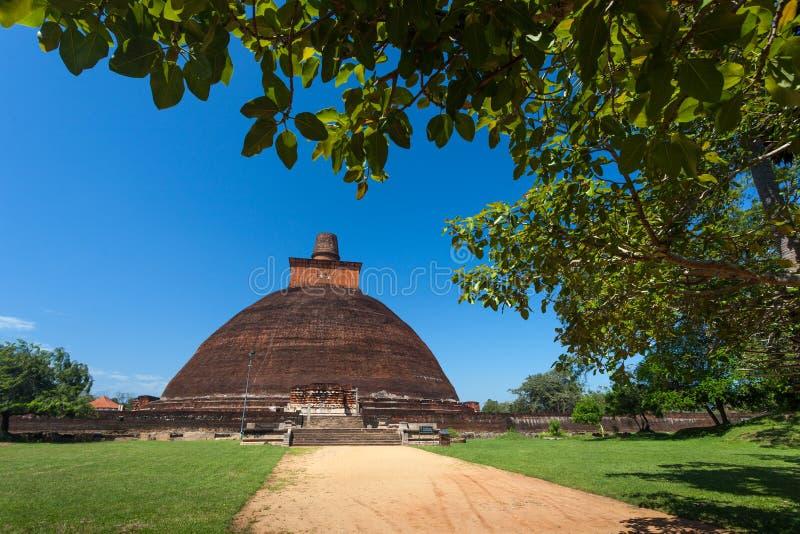 Vista do Jetavan o Dagoba o mais velho em Anuradhapura, Sri Lanka imagem de stock