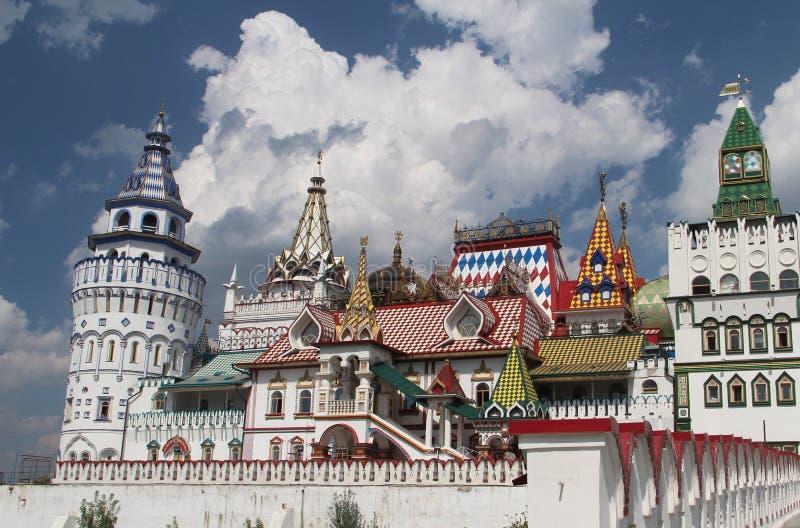 Vista do Kremlin de Izmailovo em Moscou, Rússia fotografia de stock royalty free