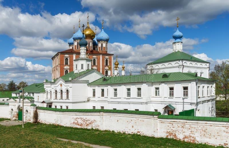 Vista do Kremlin de Ryazan Rússia central fotografia de stock royalty free