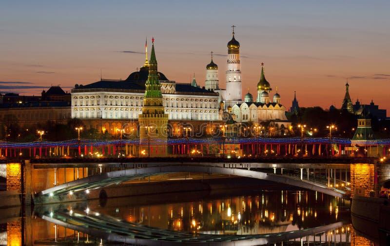 Vista do Kremlin no alvorecer moscow Rússia fotografia de stock