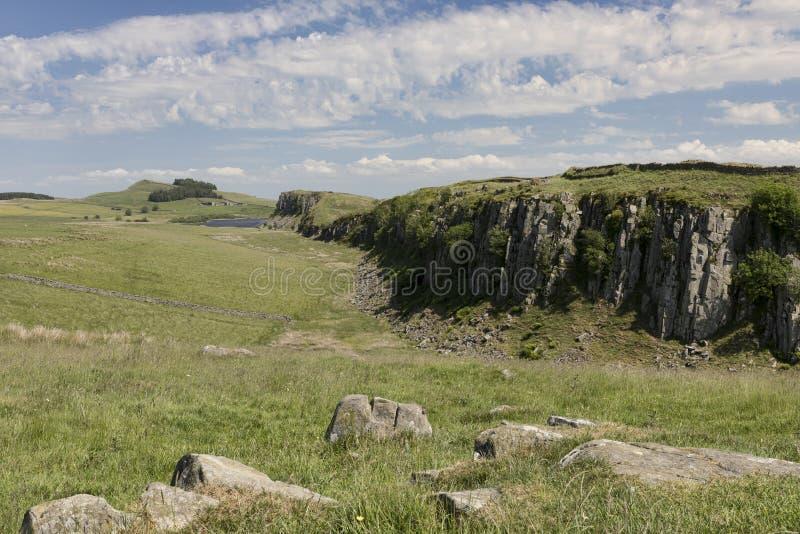 Vista do leste de Rigg de aço foto de stock