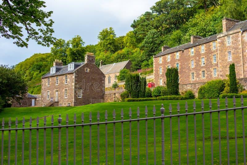 Vista do local novo da herança de Lanark, Lanarkshire em Escócia, Reino Unido foto de stock royalty free