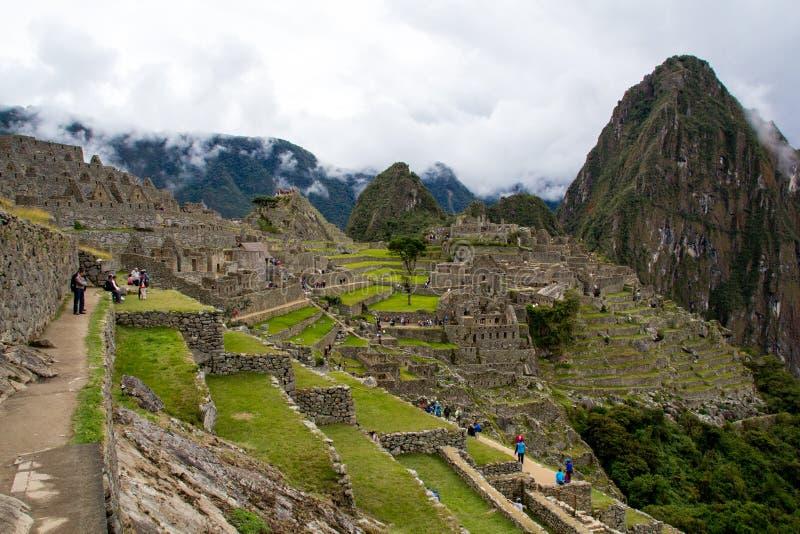 Vista do Machu Picchu foto de stock