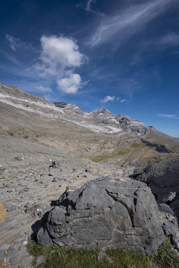 Vista do maciço de Monte Perdido fotos de stock