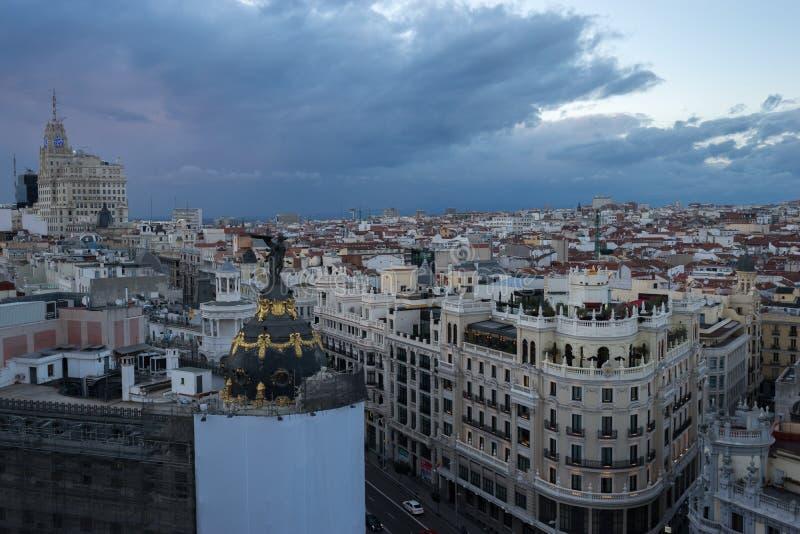 Vista do Madri dos artes de circulo de bellas fotografia de stock
