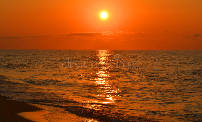 Download Vista Do Mar Durante O Por Do Sol, Nascer Do Sol Imagem de Stock - Imagem de linha, brilho: 65580051