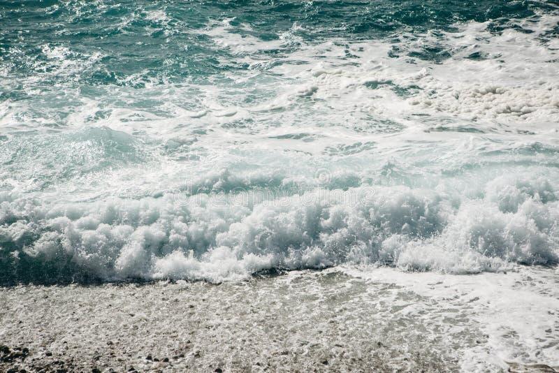 Vista do mar incomodado imagem de stock
