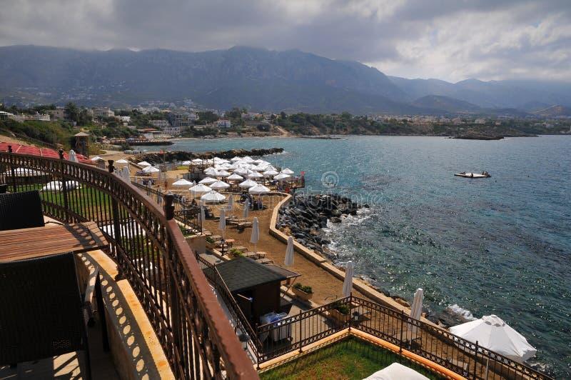 Vista do mar Mediterrâneo - Chipre fotos de stock royalty free