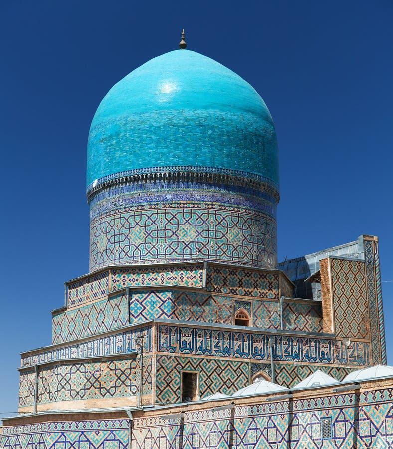 Vista do medressa de Tilla-Kari - Registan - Samarkand foto de stock royalty free