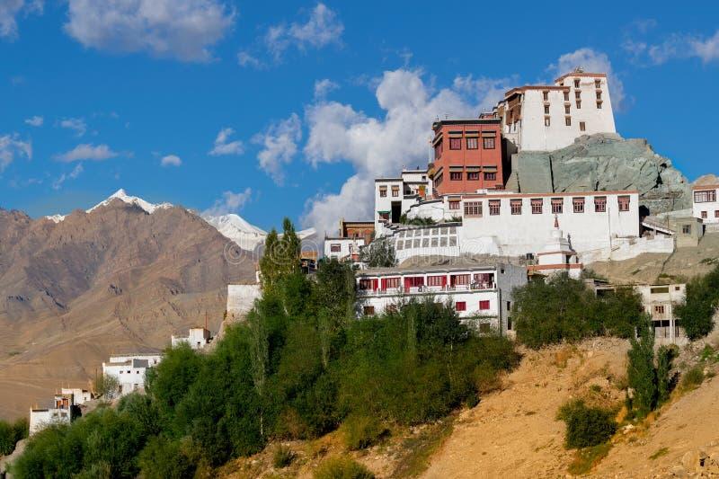 Vista do monastério de Thiksay, Ladakh - Índia fotografia de stock