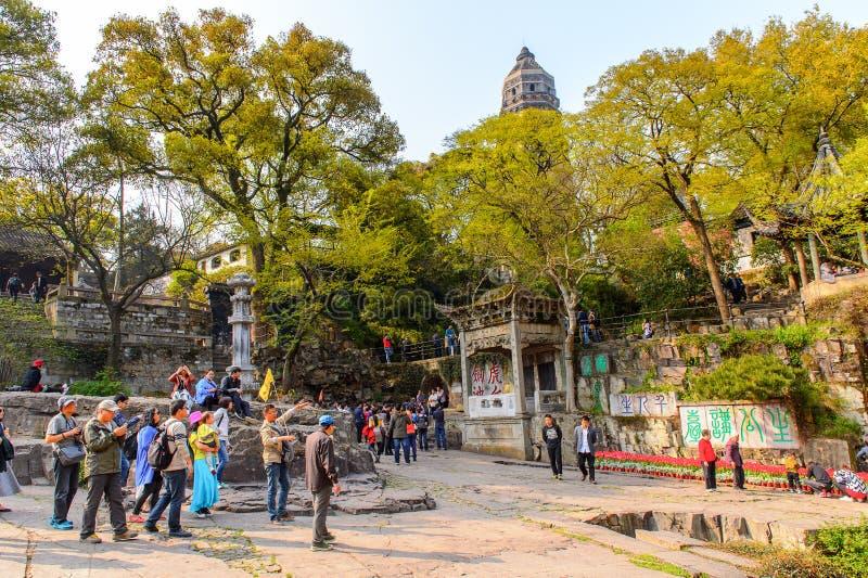 Vista do monte do tigre em Suzhou, China foto de stock royalty free