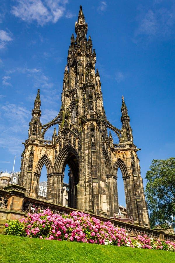 Vista do monumento de Scott em Scotland fotos de stock royalty free
