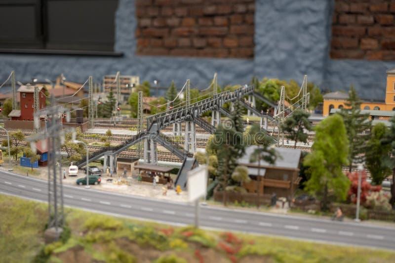 A vista do museu interativo grande de Maket Rússia foto de stock