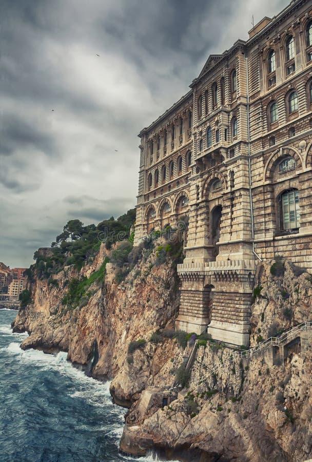 Vista do museu Oceanographic de Monaco imagem de stock royalty free