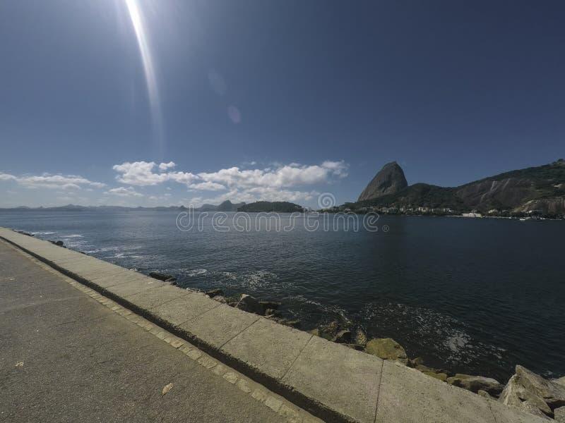 Vista do naco de açúcar Brasil, Rio de janeiro imagens de stock