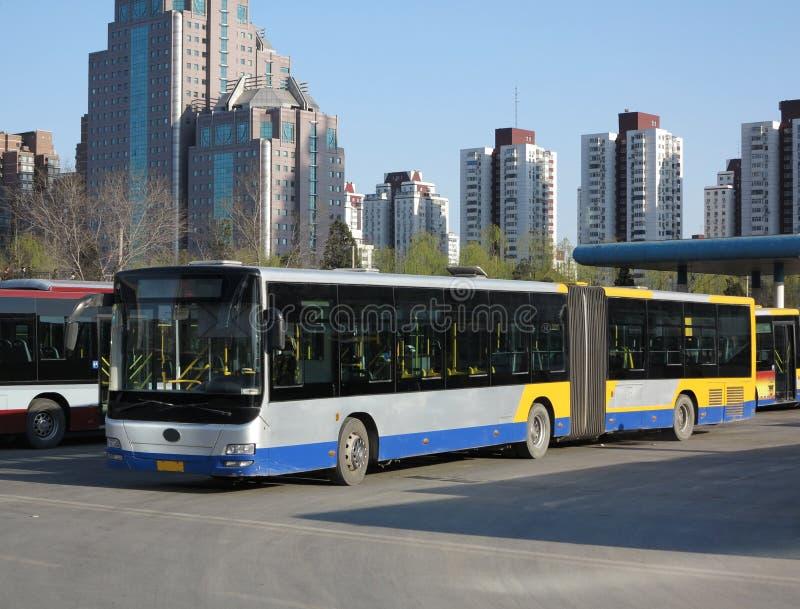 Ônibus em Beijing foto de stock