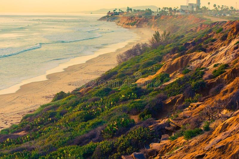 Vista do oceano de Califórnia fotografia de stock royalty free