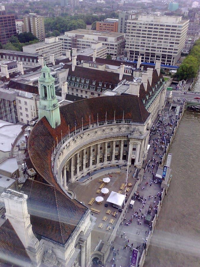 Vista do olho Reino Unido 2009 de Londres fotografia de stock