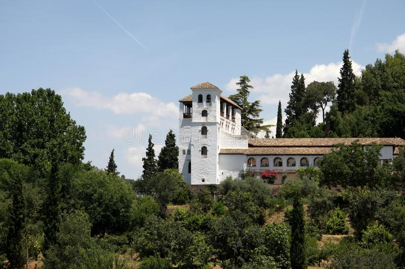 Vista do palácio de Alhambra Espanha em Granada, a Andaluzia imagem de stock