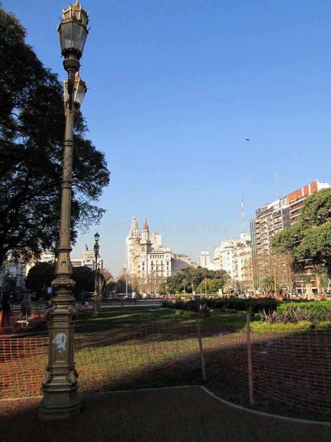 Vista do palácio de Barolo da plaza de los Dos Congresos, Buenos Aires Argentina fotografia de stock
