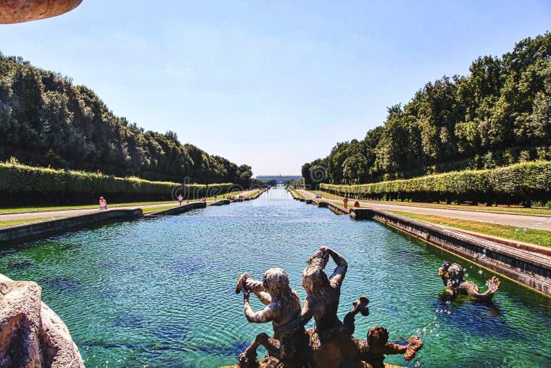 Vista do palácio de Caserta Nápoles Itália fotos de stock