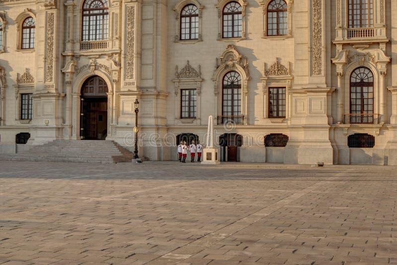 Vista do palácio do governo em Lima Peru foto de stock royalty free