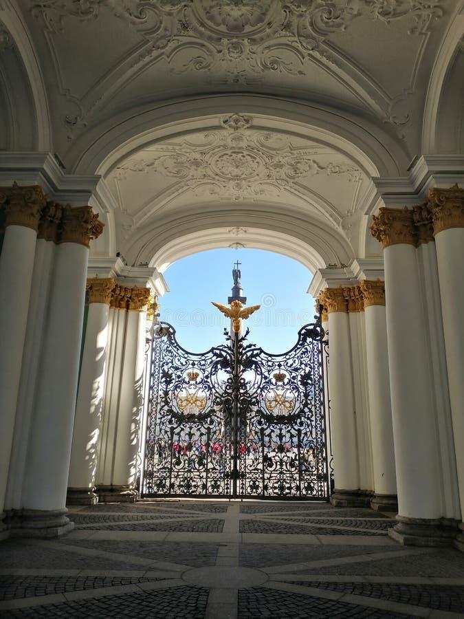 Vista do palácio do inverno imagem de stock royalty free