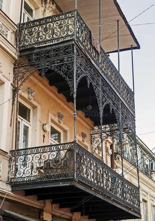 Vista do palácio presidencial em Tbilisi fotografia de stock