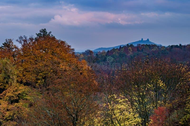 Vista do paraíso checo ou boêmio cesky do raj - - Boêmia - república checa imagens de stock