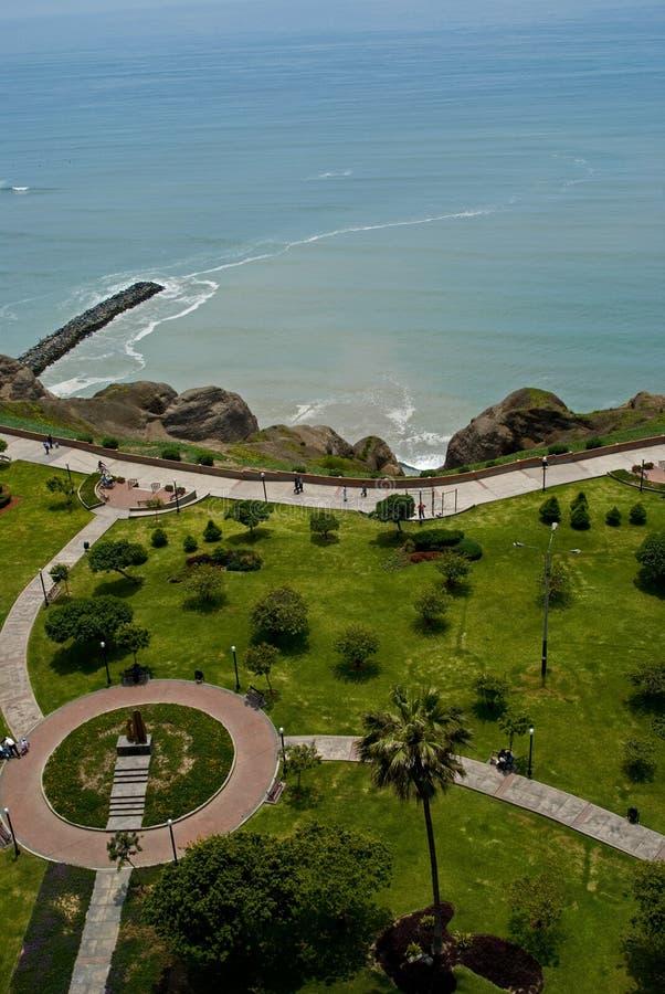 Vista do parque de Miraflores, Lima - Peru foto de stock