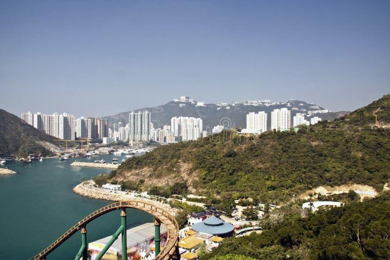 Vista do parque do oceano em Hong Kong imagem de stock royalty free
