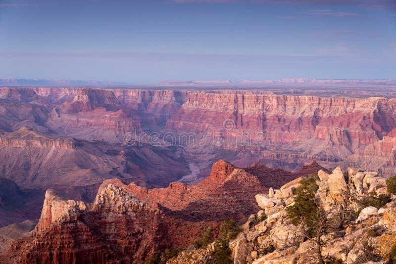 Vista do parque nacional de Grand Canyon da borda acima do Little Colorado River fotografia de stock