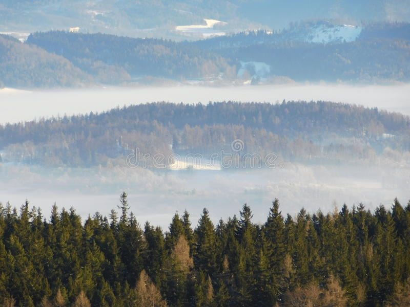 Vista do parque nacional de Karkonosze foto de stock royalty free