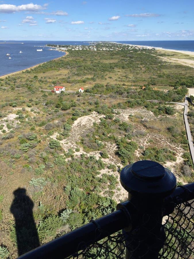 Vista do parque nacional do farol da ilha do fogo fotografia de stock