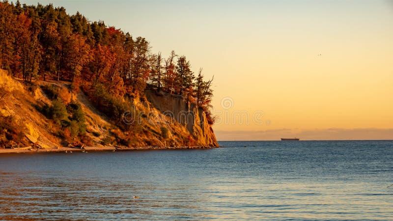 Vista do penhasco em Gdynia, Polônia foto de stock