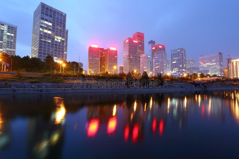 Vista do Pequim CBD fotos de stock royalty free