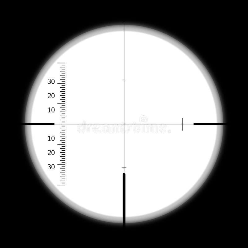 A vista do periscópio de um submarino imagem de stock