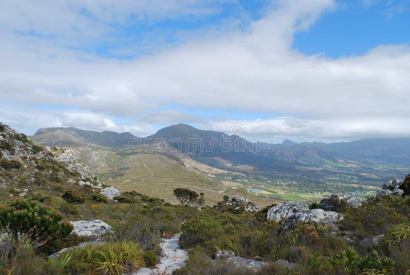 Vista do pico de Muizenberg fotografia de stock royalty free