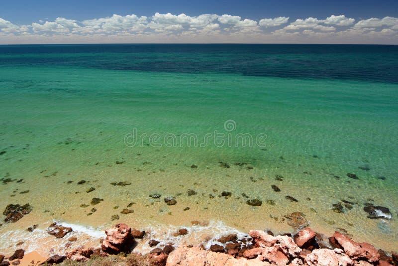 Vista do ponto dos Skipjack Parque nacional de François Peron Baía do tubarão Austrália Ocidental fotos de stock royalty free