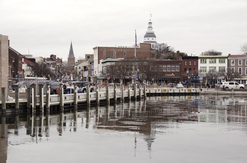 Vista do porto de Annapolis foto de stock