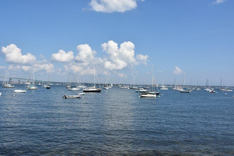 Vista do porto de Jamestown, Rhode - ilha fotos de stock royalty free