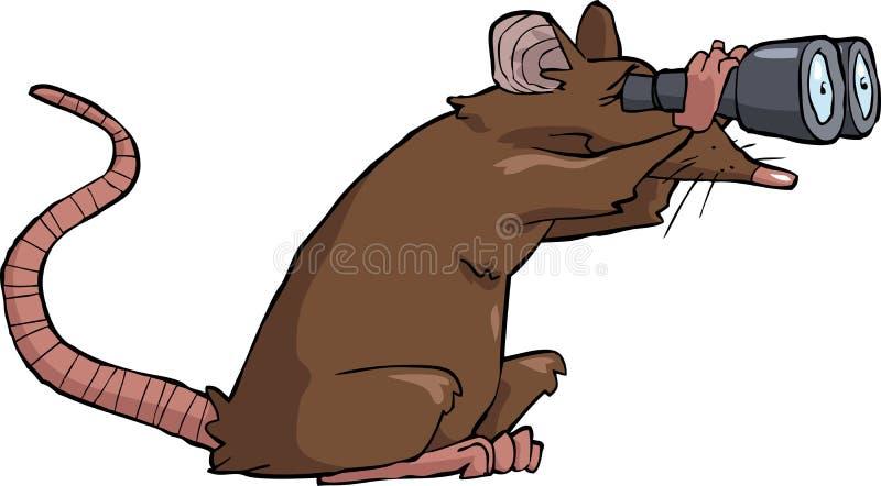 Vista do rato ilustração royalty free