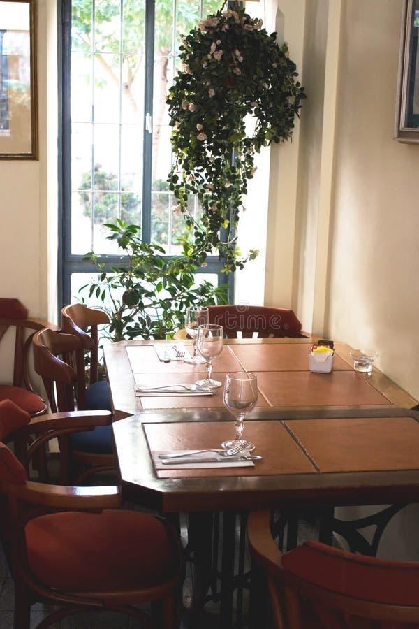 Vista do restaurante imagens de stock