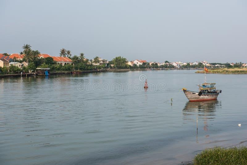 Vista do rio foto de stock