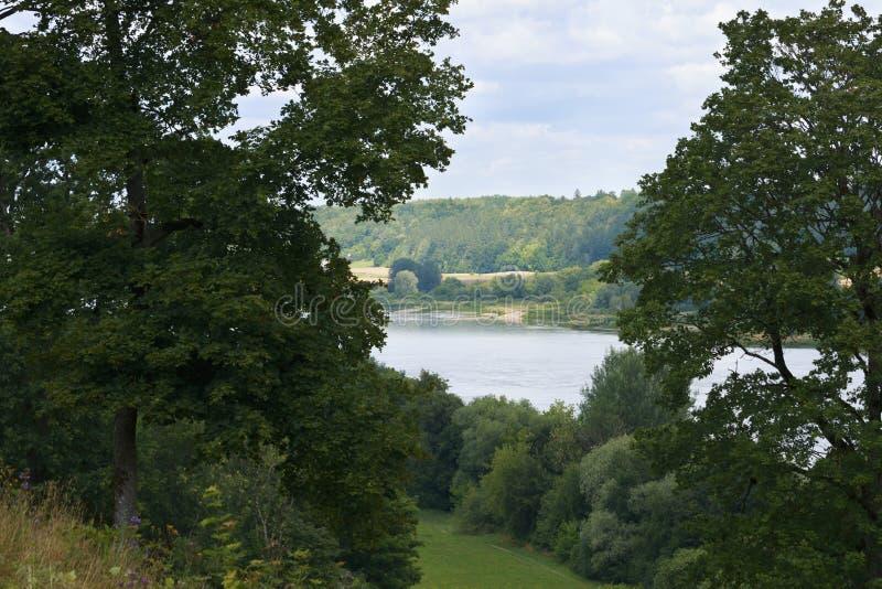 Vista do rio da montanha fotografia de stock