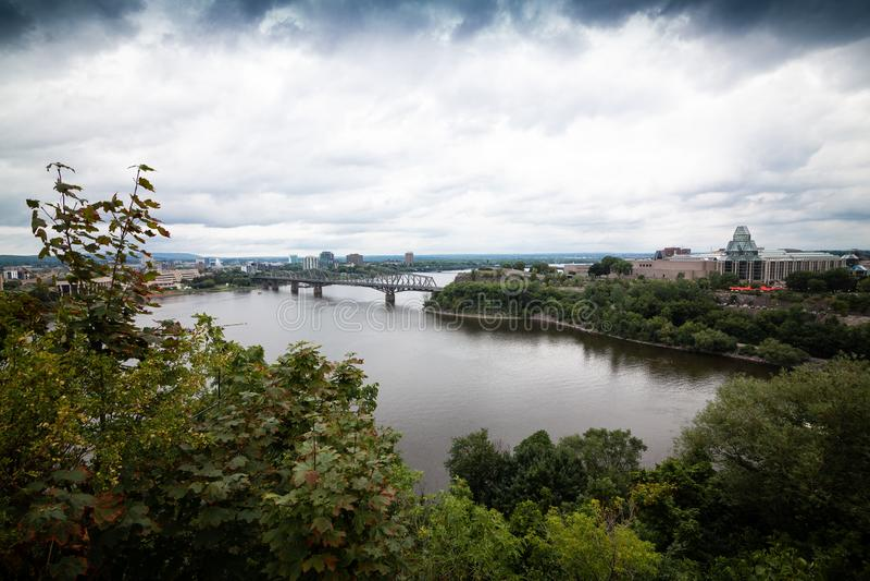 Vista do rio de Ottawa imagens de stock royalty free