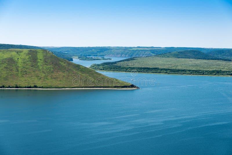 Vista do rio Dniester fotografia de stock