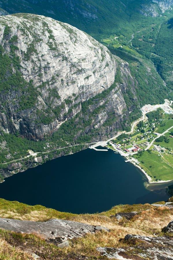 vista do rio e majestoso aéreos imagem de stock