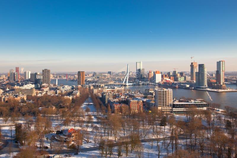 Vista do Rotterdam imagens de stock